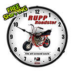 Collectable Sign and Clock Rupp Roadster Backlit Wall Clock