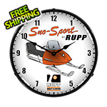 Collectable Sign and Clock Sno-Sport Rupp Backlit Wall Clock