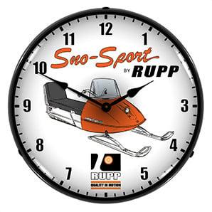 Sno-sport Rupp Backlit Wall Clock