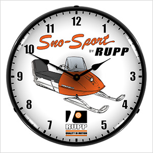 Sno-Sport Rupp Backlit Wall Clock