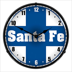 Santa Fe Railroad Backlit Wall Clock