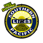 Collectable Sign and Clock Southern Pacific Lines Backlit Wall Clock