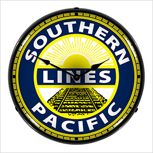 Southern Pacific Lines Backlit Wall Clock