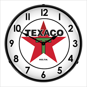 Texaco Backlit Wall Clock
