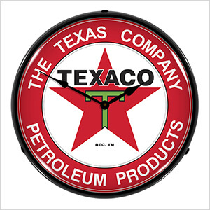 Texaco Petroleum Products Backlit Wall Clock