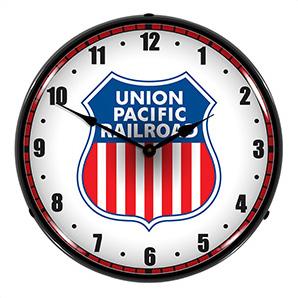 Union Pacific Railroad Backlit Wall Clock