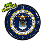 Collectable Sign and Clock US Air Force Backlit Wall Clock