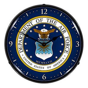 Us Air Force Backlit Wall Clock