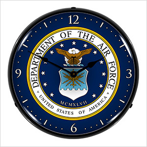 US Air Force Backlit Wall Clock
