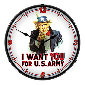 Uncle Sam Backlit Wall Clock
