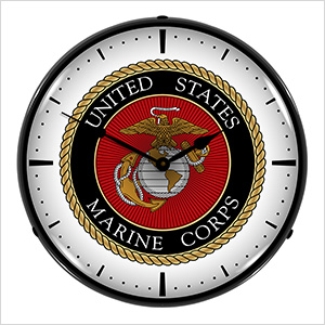 US Marine Corps Backlit Wall Clock