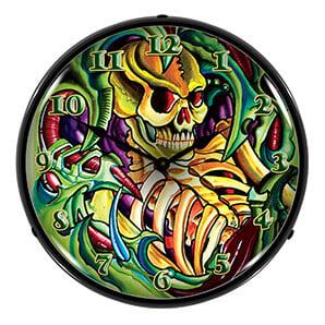 Tattoo Skull Backlit Wall Clock