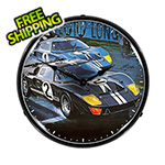 Collectable Sign and Clock Ford GT-40 Backlit Wall Clock