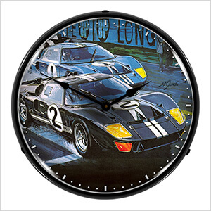 Ford GT-40 Backlit Wall Clock