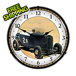 Collectable Sign and Clock Salt Flats Racer Backlit Wall Clock