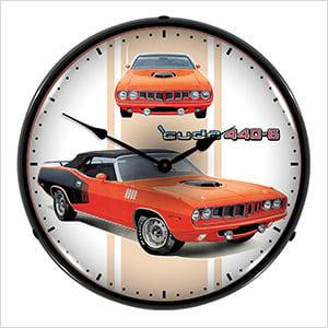 Cuda 440-6 Backlit Wall Clock