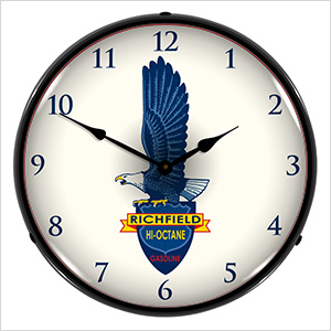 Richfield Gasoline Backlit Wall Clock