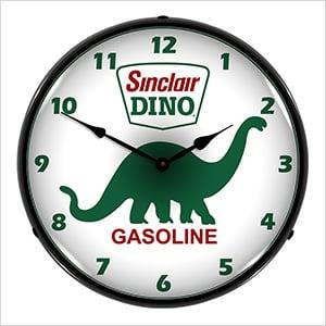 Sinclair Dino Gasoline Backlit Wall Clock