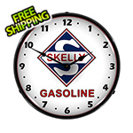 Collectable Sign and Clock Skelly Gasoline Backlit Wall Clock