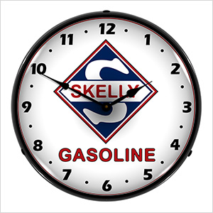 Skelly Gasoline Backlit Wall Clock