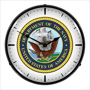 US Navy Backlit Wall Clock