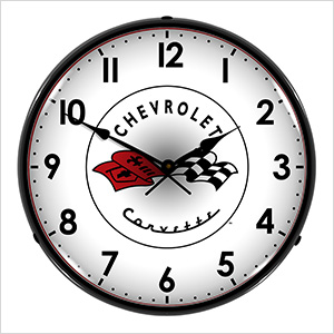 Chevrolet Corvette C1 Backlit Wall Clock