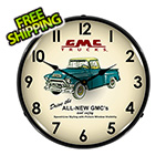 Collectable Sign and Clock GMC Trucks Backlit Wall Clock