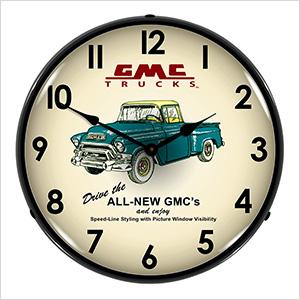 GMC Trucks 1956 Backlit Wall Clock