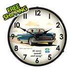 Collectable Sign and Clock 1957 Bel Air Convertible Backlit Wall Clock