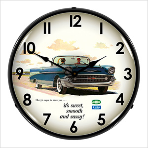 1957 Bel Air Convertible Backlit Wall Clock