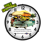 Collectable Sign and Clock 1955 Bel Air Convertible Backlit Wall Clock