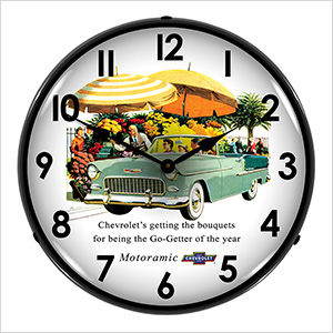 1955 Bel Air Convertible Backlit Wall Clock