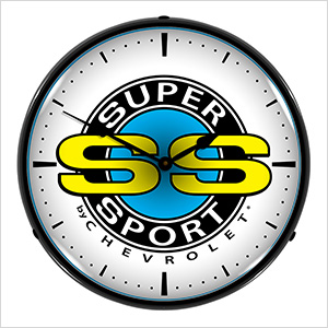 Chevrolet SS Super Sport Backlit Wall Clock