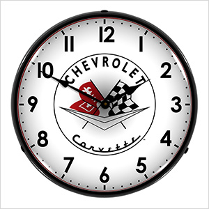 Chevrolet Corvette Backlit Wall Clock