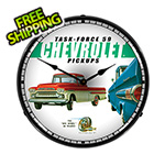 Collectable Sign and Clock Chevrolet Pickups Backlit Wall Clock