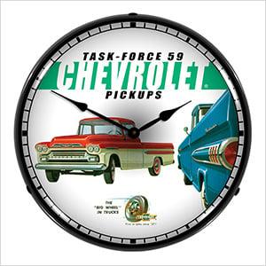 Chevrolet Pickups Backlit Wall Clock