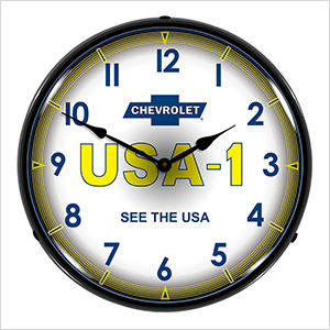Chevrolet USA-1 Backlit Wall Clock