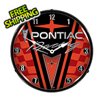 Collectable Sign and Clock Pontiac Racing Backlit Wall Clock