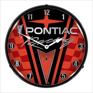 Pontiac Racing Backlit Wall Clock