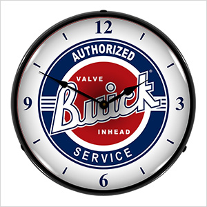 Authorized Buick Service Backlit Wall Clock