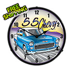 Collectable Sign and Clock 1955 Chevy Backlit Wall Clock