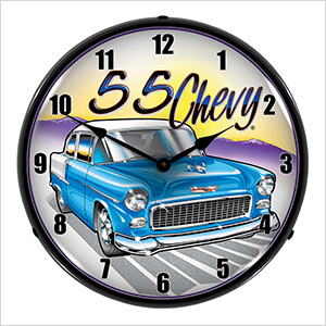 1955 Chevy Backlit Wall Clock