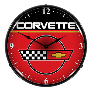 Corvette Backlit Wall Clock