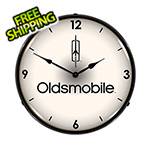 Collectable Sign and Clock Oldsmobile Backlit Wall Clock