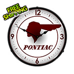 Collectable Sign and Clock Pontiac Backlit Wall Clock