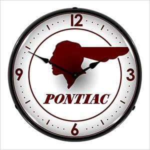 Pontiac Backlit Wall Clock