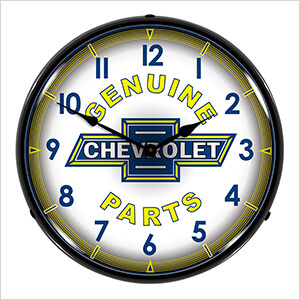 Genuine Chevrolet Parts Backlit Wall Clock