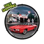 Collectable Sign and Clock 1970 GTO Backlit Wall Clock