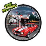 Collectable Sign and Clock 1969 Camaro Backlit Wall Clock