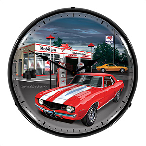1969 Camaro Backlit Wall Clock